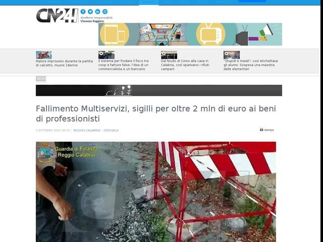 Fallimento Multiservizi, sigilli per oltre 2 mln di euro ai beni di professionisti