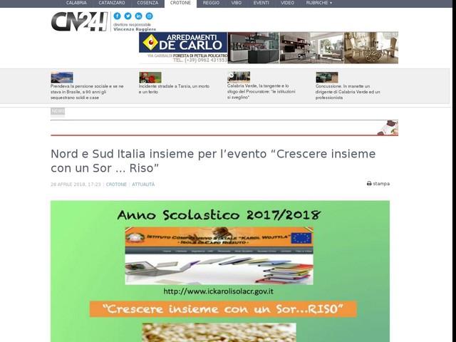 """Nord e Sud Italia insieme per l'evento """"Crescere insieme con un Sor ... Riso"""""""