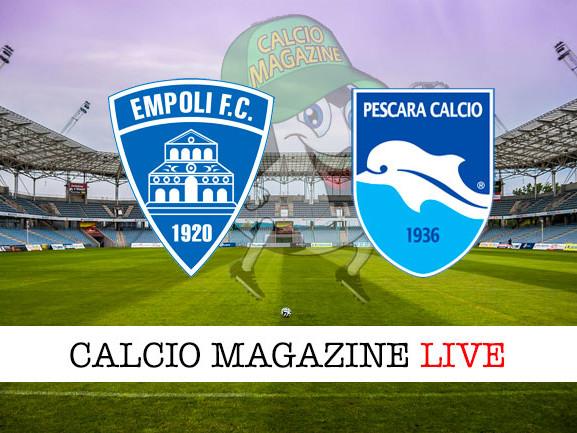 Empoli – Pescara: cronaca diretta live, risultato in tempo reale