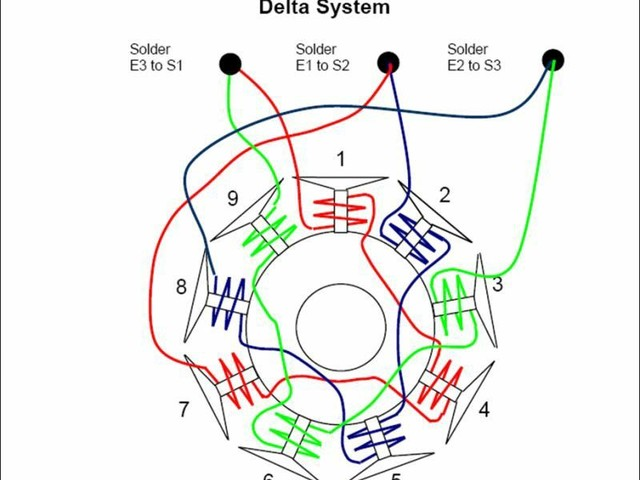 Phase Delta Motor Windings Diagram Wiring Schematic