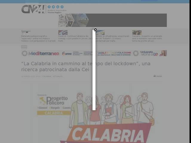 """""""La Calabria in cammino al tempo del lockdown"""", una ricerca patrocinata dalla Cei"""