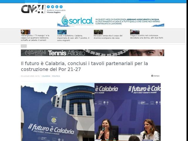 Il futuro è Calabria, conclusi i tavoli partenariali per la costruzione del Por 21-27