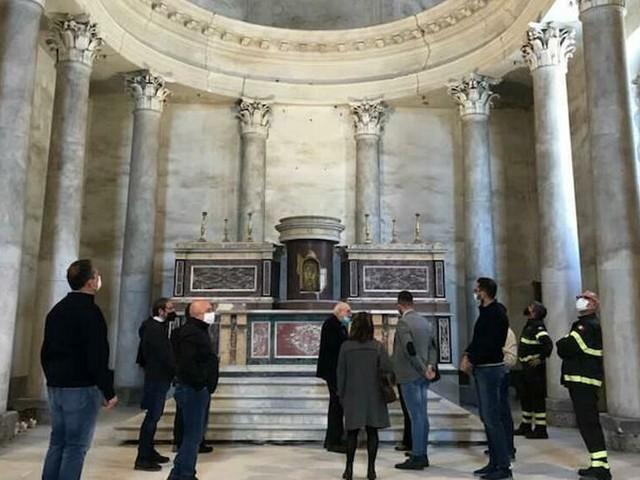 Giarre, sopralluogo di Soprintendenza e Fec alla Chiesa del Convento