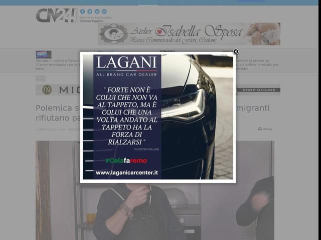 "Polemica sui social, Sperlì: ""pensare ai calabresi, migranti rifiutano pasti"". Risponde Pap"