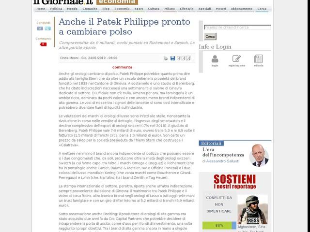Anche il Patek Philippe pronto a cambiare polso