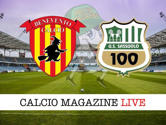 Benevento – Sassuolo: cronaca diretta live, risultato in tempo reale