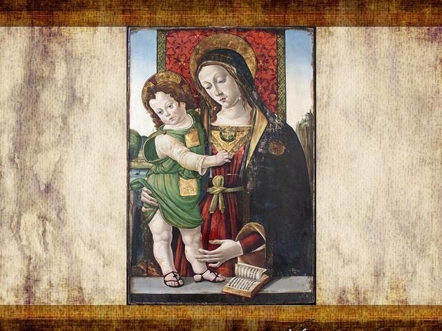 Esposta per la prima volta un'immagine della Madonna attribuita a Pinturicchio