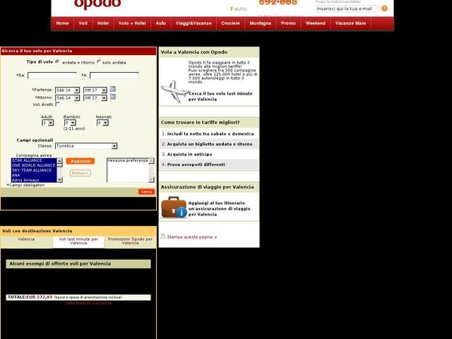 Voli last minute Valencia - Voli last second Valencia - Spagna su Opodo