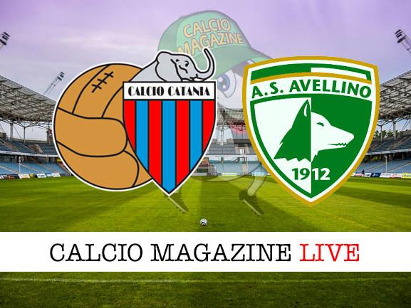 Diretta Catania – Avellino: risultato in tempo reale, tabellino