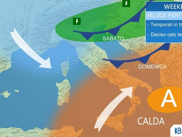 Meteo Italia. Weekend: TEMPORALI e temperature in calo. Tutti gli aggiornamenti