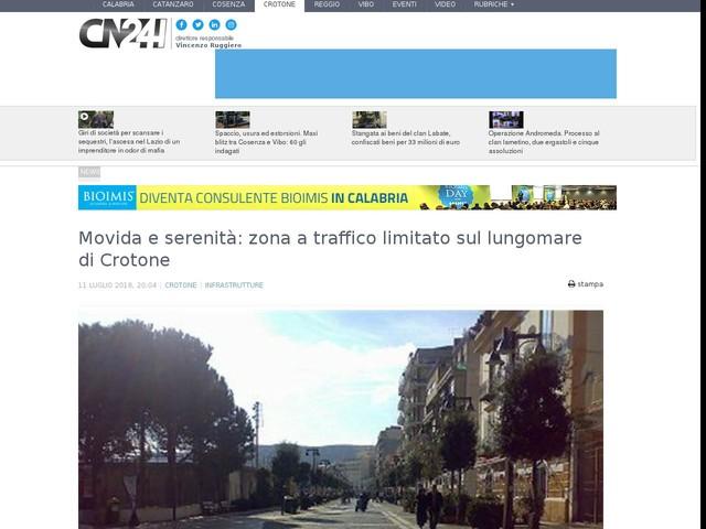 Movida e serenità: zona a traffico limitato sul lungomare di Crotone