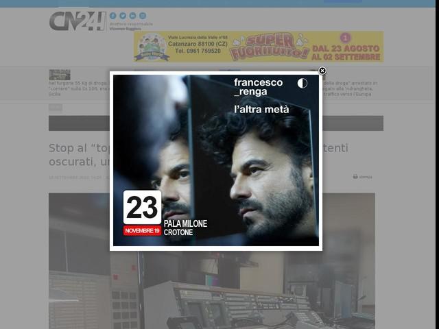 """Stop al """"top"""" della pirateria televisiva: 700 mila utenti oscurati, una base anche in Calabria"""