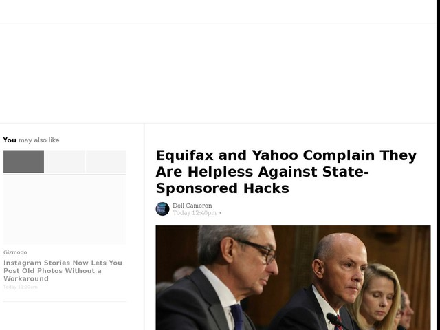 Equifax and Yahoo Complain They Are Helpless Against State-Sponsored Hacks