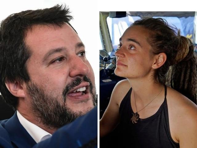 """Salvini insulta ancora Carola su Facebook e scatena l'inferno tra i suoi fan: """"Trema zozza"""""""