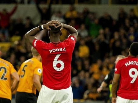 Premer, il Wolverhampton stoppa il Manchester United, Pogba sbaglia un rigore