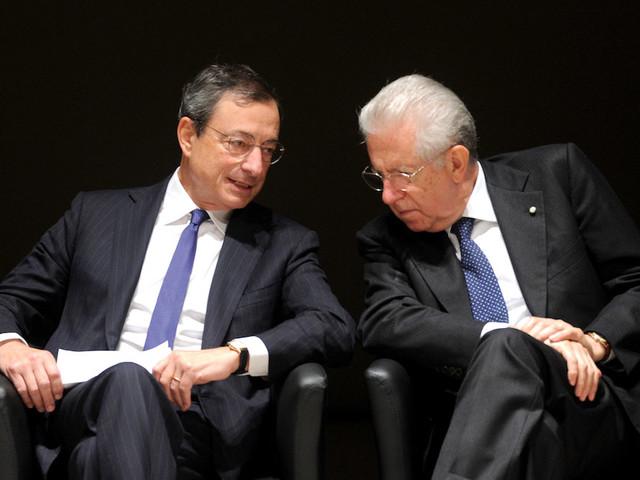 """Draghi: """"Una profonda recessione è inevitabile"""". Monti: """"Servirebbe lui come Premier per uscire dalla crisi"""""""