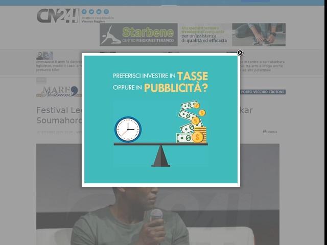 """Festival Leggere&Scrivere, il sindacalista Aboubakar Soumahoro: """"Italiani, lottate per i vostri diritti"""""""