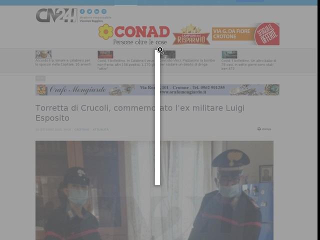 Torretta di Crucoli, commemorato l'ex militare Luigi Esposito