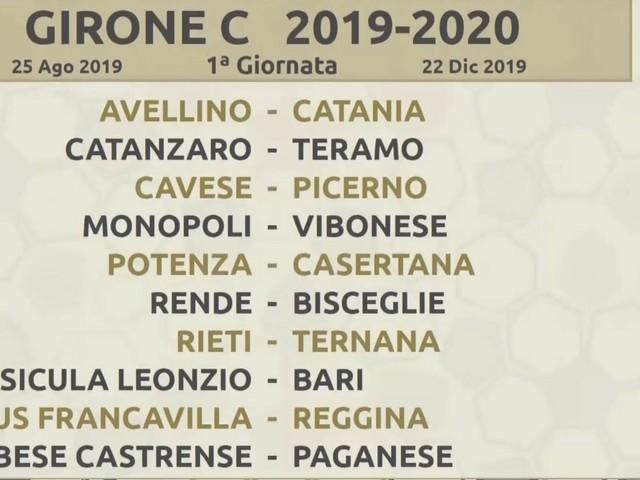 Calendario Lega Pro Girone C 2020.Calendario Serie C 2019 2020 Ecco Tutte Le Gare Dei Gironi