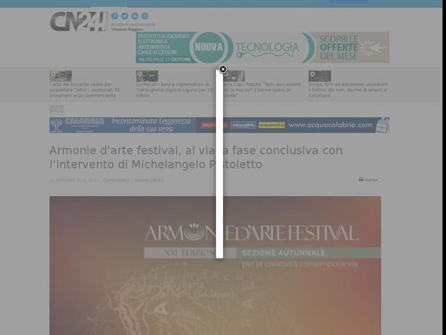 Armonie d'arte festival, al via la fase conclusiva con l'intervento di Michelangelo Pistoletto