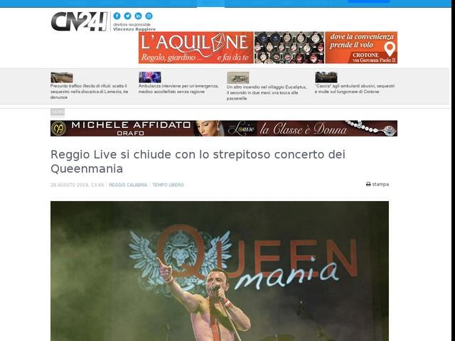 Reggio Live si chiude con lo strepitoso concerto dei Queenmania