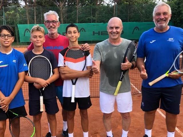 Luca Zingaretti ospite e protagonista d'eccezione sui campi del Tennis Club Triestino