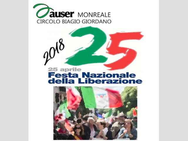 Monreale. Festa della Liberazione organizzata dall'AUSER