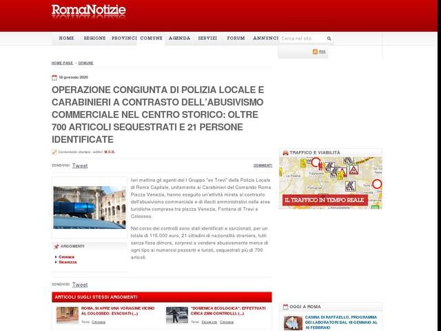 Operazione congiunta di Polizia Locale e Carabinieri a contrasto dell'abusivismo commerciale nel centro storico: oltre 700 articoli sequestrati e 21 persone identificate