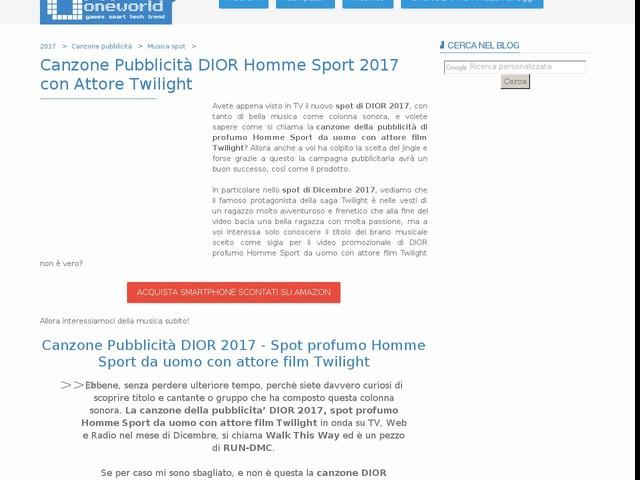 Canzone Pubblicità DIOR Homme Sport 2017 con Attore Twilight