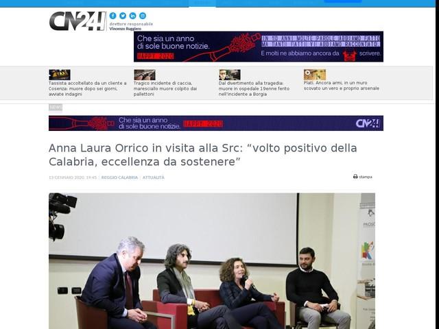 """Anna Laura Orrico in visita alla Src: """"volto positivo della Calabria, eccellenza da sostenere"""""""