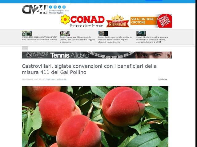 Castrovillari, siglate convenzioni con i beneficiari della misura 411 del Gal Pollino