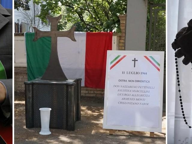 Il triste rituale di Ostra. L'omaggio di parroco, sindaco e Pd alle spie nazifasciste di fronte alla lapide dei partigiani