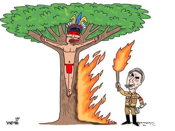 Amazzonia: gli incendi minacciano anche le tribù incontattate