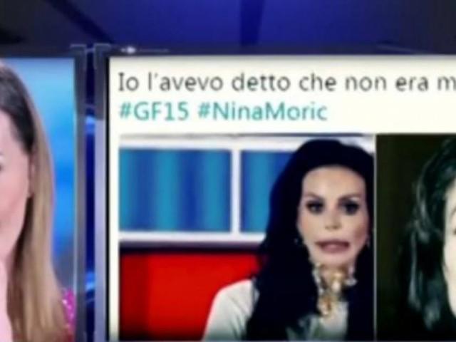 GF15, Nina Moric rinata; il messaggio rivolto agli hater: 'io sono forte'
