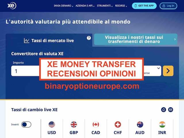XE Money Transfer recensioni opinioni xe.com [2020] alternative