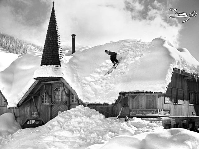"""Campiglio, come nel 1951: si rifà la foto della """"grande nevicata"""""""