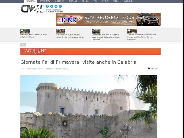 Giornate Fai di Primavera, visite anche in Calabria
