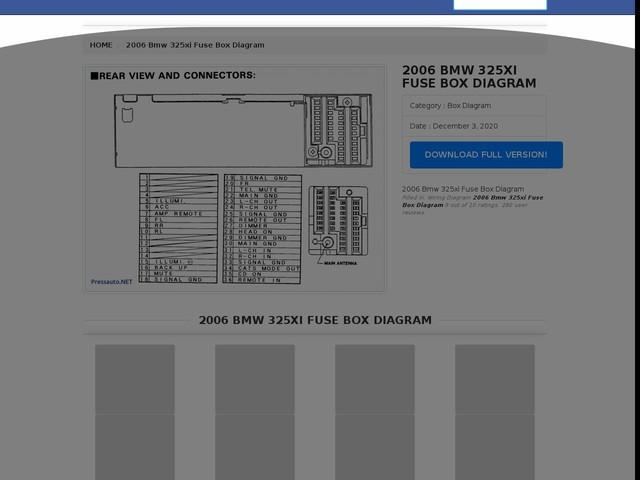Bmw 325xi Fuse Box Diagram