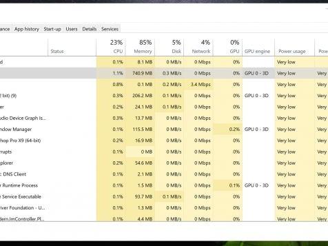 Come conoscere il consumo elettrico di un singolo programma su Windows 10