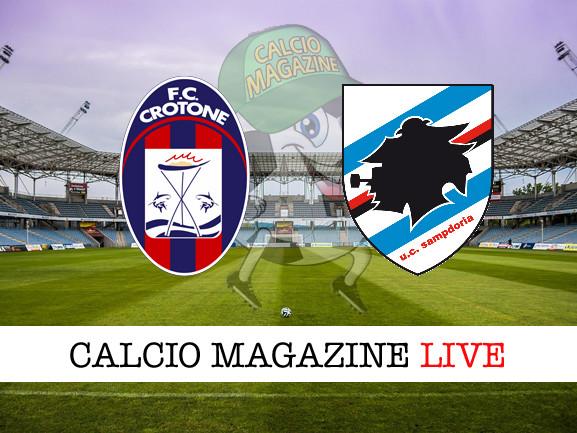 Crotone – Sampdoria: cronaca diretta live, risultato in tempo reale