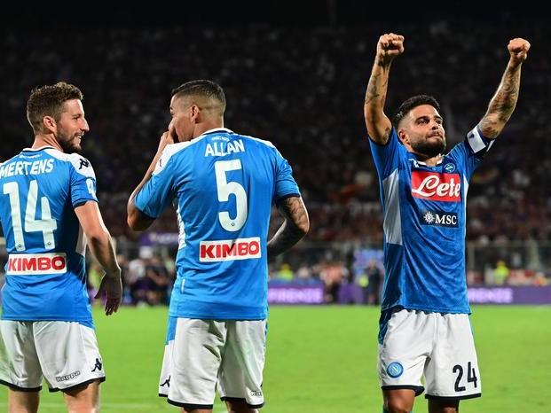 Fiorentina Napoli 3-4 doppietta di Insigne