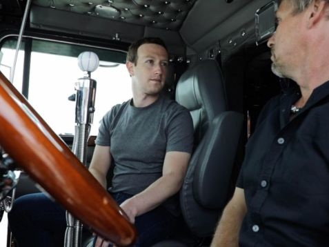 Zuckerberg's Campaign Tour 2020 Pulls Over to Explain What a Truckstop Is