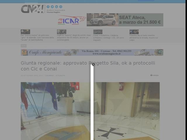 Giunta regionale: approvato Progetto Sila, ok a protocolli con Cic e Conai