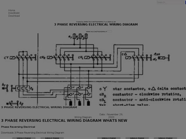 Phase Reversing Electrical Wiring Diagram