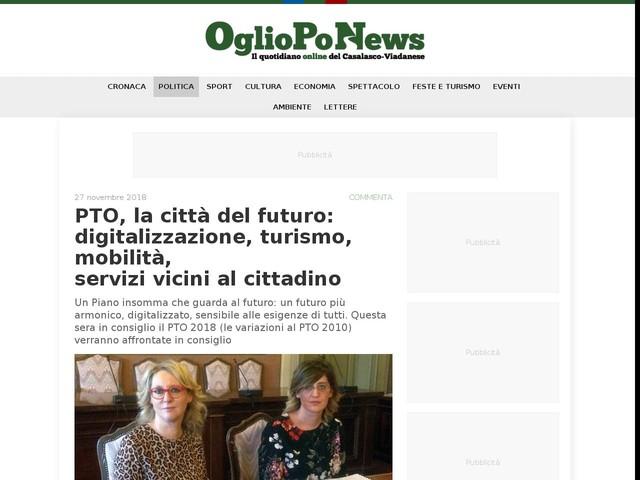 PTO, la città del futuro: digitalizzazione, turismo, mobilità, servizi vicini al cittadino