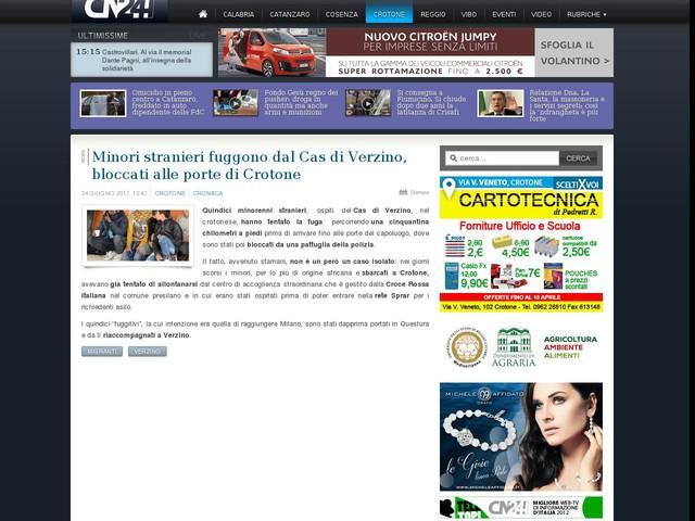 Minori stranieri fuggono dal Cas di Verzino, bloccati alle porte di Crotone
