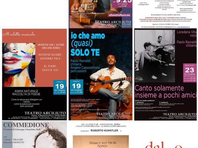 @TeatroArciliuto | Riparte la programmazione del Teatro. Gli eventi dal 9 al 27