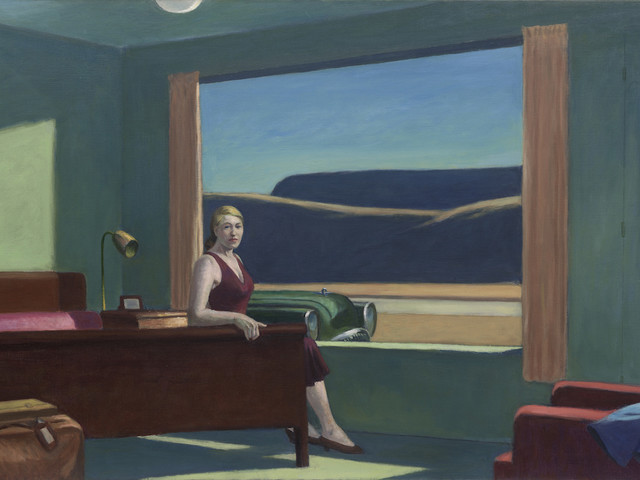 Dormire in una camera d'albergo dipinta da Edward Hopper. Al Virginia Museum of Fine Arts