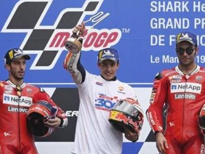 Marquez senza rivali nel Moto GP di Le Mans (ma due italiani sul podio)