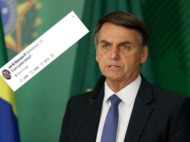 Bolsonaro ha chiesto a 3,5 milioni di followers «cos'è una golden shower?»